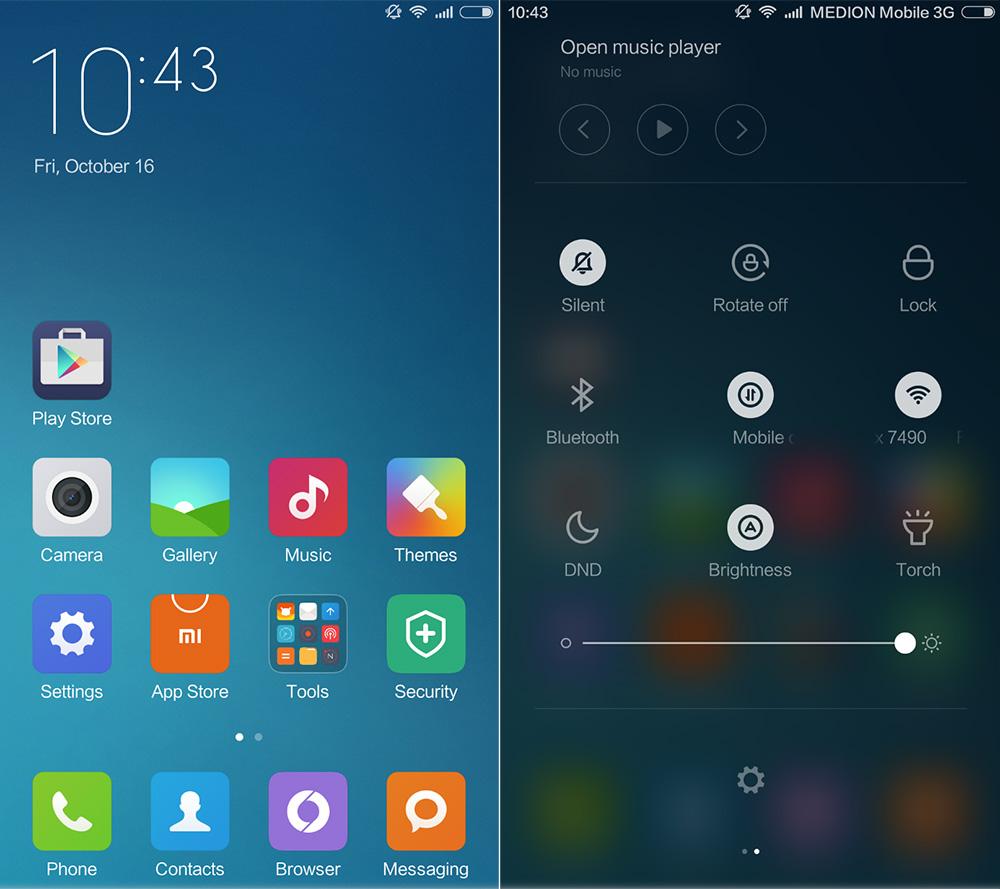 Обзор Xiaomi Mi 4c - оболочка MIUI