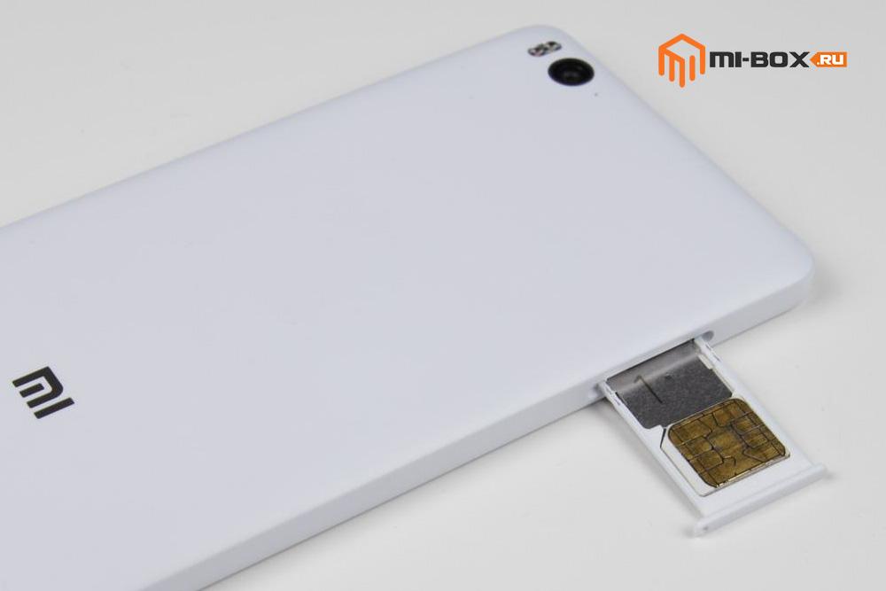 Обзор Xiaomi Mi 4c - слот для сим-карт