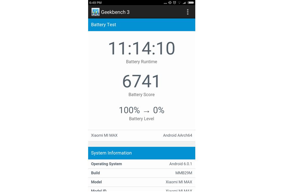 Обзор Xiaomi Mi Max - аккумуляторная батарея