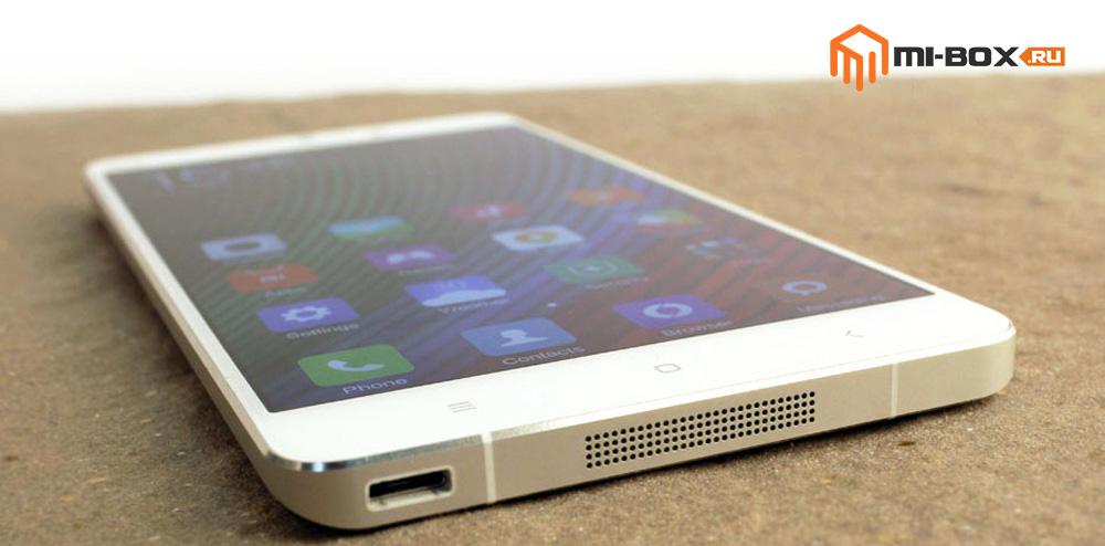 Обзор Xiaomi Mi Note - нижняя грань и передняя сторона