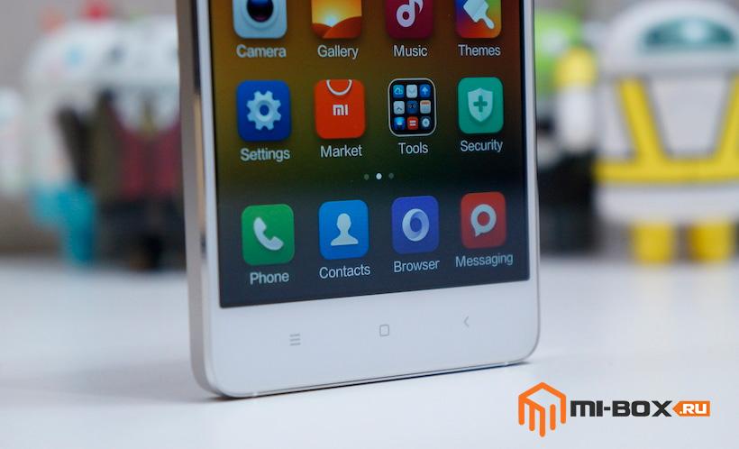 Обзор Xiaomi Mi 4 - кнопки управления