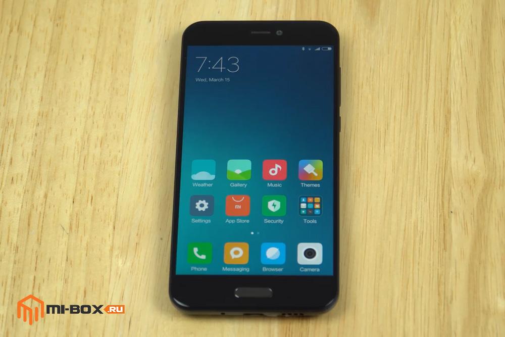 Обзор Xiaomi Mi 5c - передняя сторона