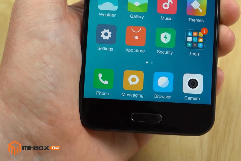 Обзор Xiaomi Mi 5c - сканер отпечатков пальцев