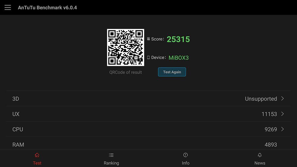 Обзор Xiaomi Mi Box 3 - результаты теста АнТуТу
