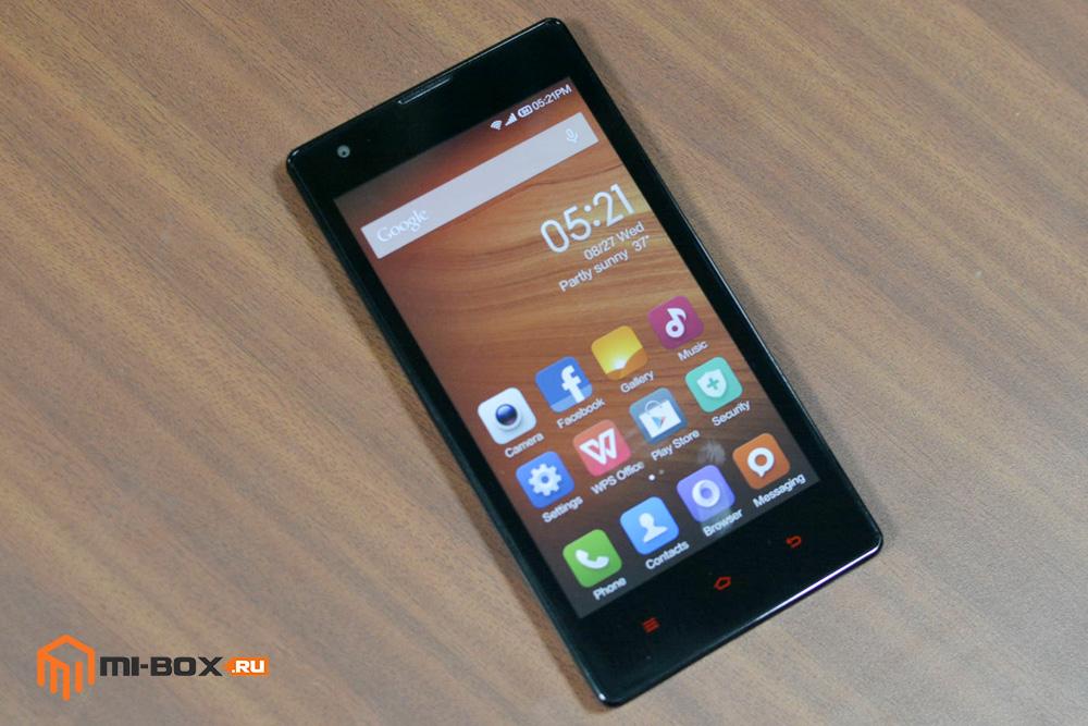 Обзор Xiaomi Redmi 1s - передняя сторона
