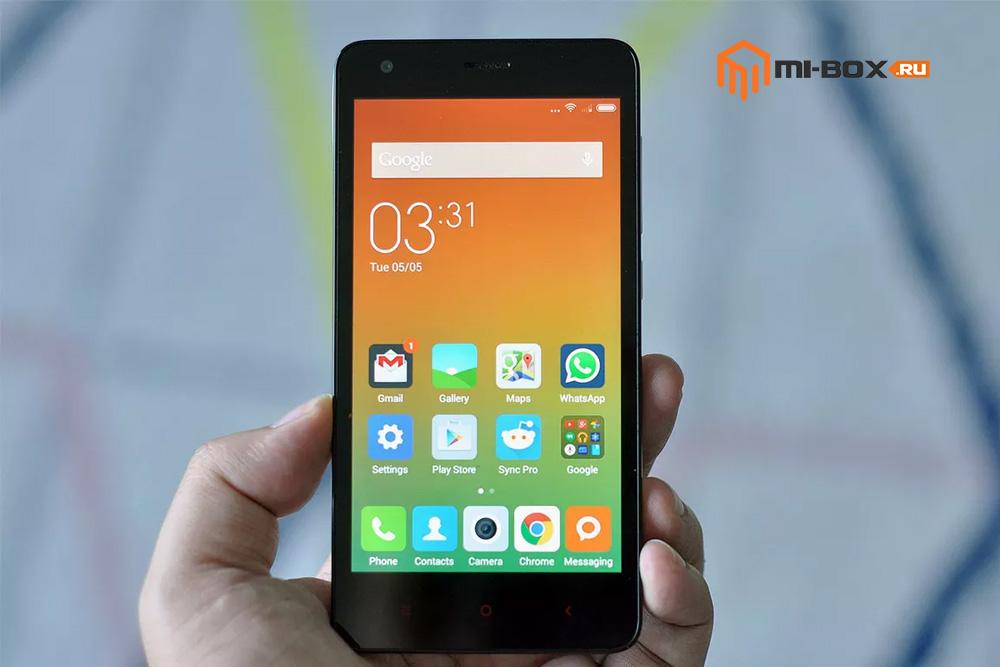 Обзор Xiaomi Redmi 2 - передняя сторона