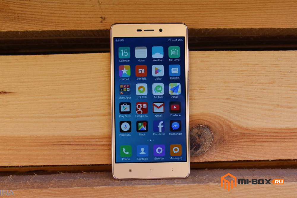 Обзор Xiaomi Redmi 3 Pro - передняя сторона