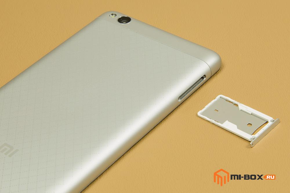 Обзор Xiaomi Redmi 3 - левая грань и слот для сим-карт