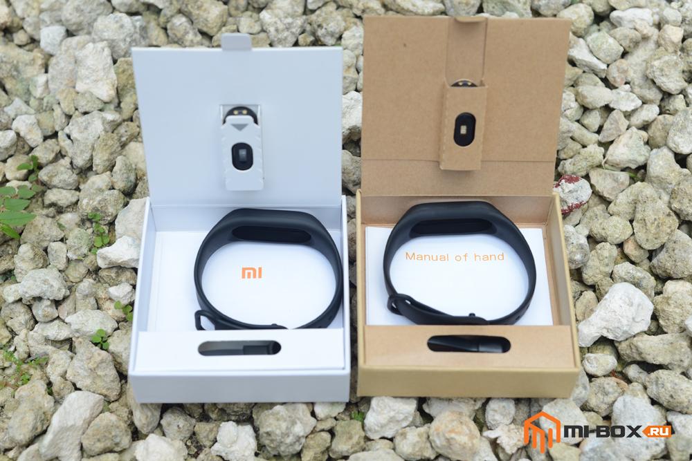 Подделка Xiaomi Mi Band 2 - сравнение содержимого упаковок
