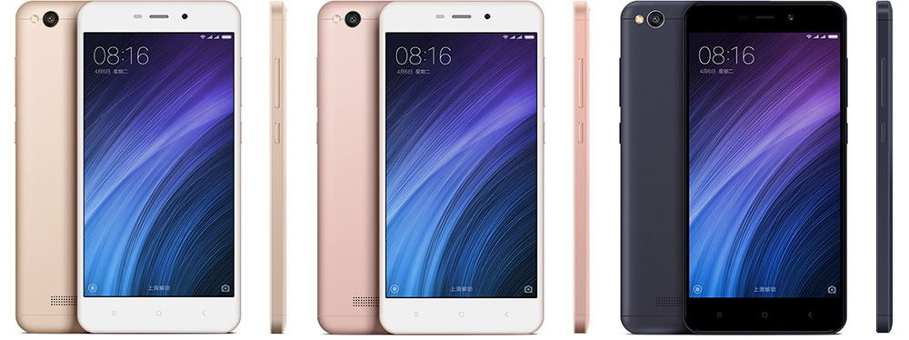 Обзор Xiaomi Redmi 4a - золотой, розовый и черный