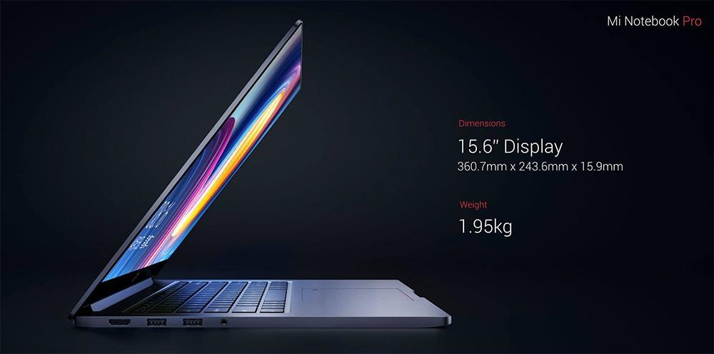Xiaomi Mi Notebook PRO - внешний вид