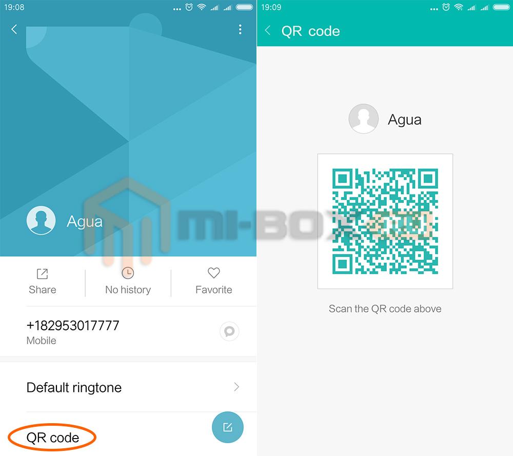 Как на Xiaomi создать qr-код с данными контакта