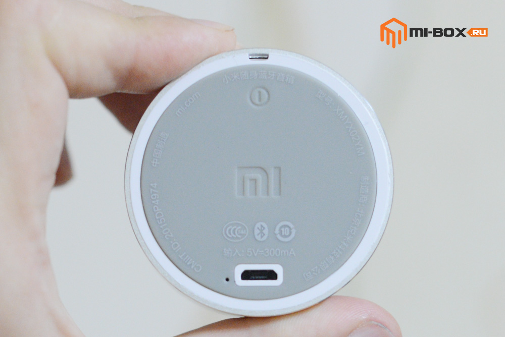Обзор Xiaomi Mi Bluetooth Speaker Portable - задняя сторона