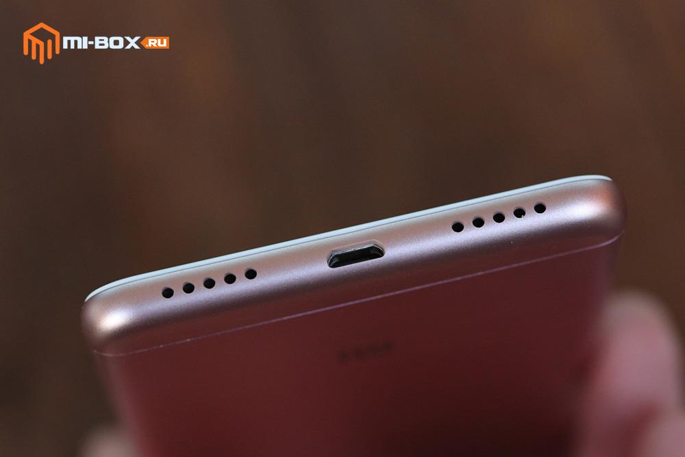Обзор Xiaomi Redmi 5 - нижняя грань