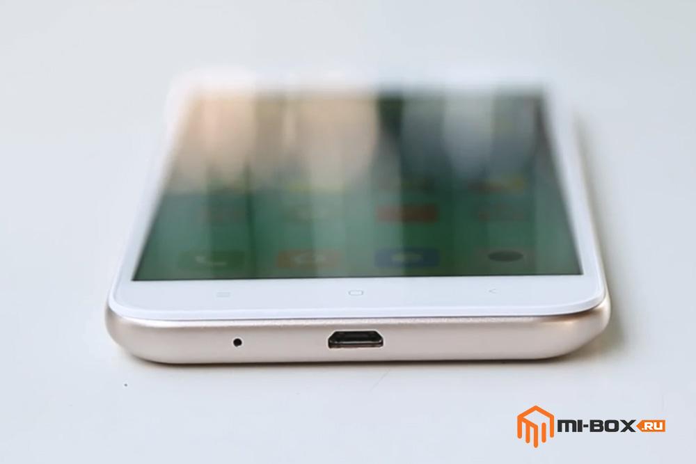 Обзор Xiaomi Redmi 5a - нижняя грань