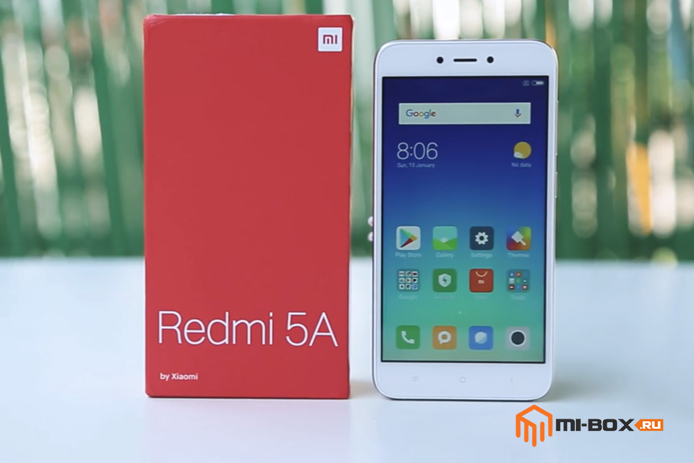Обзор Xiaomi Redmi 5a - внешний вид