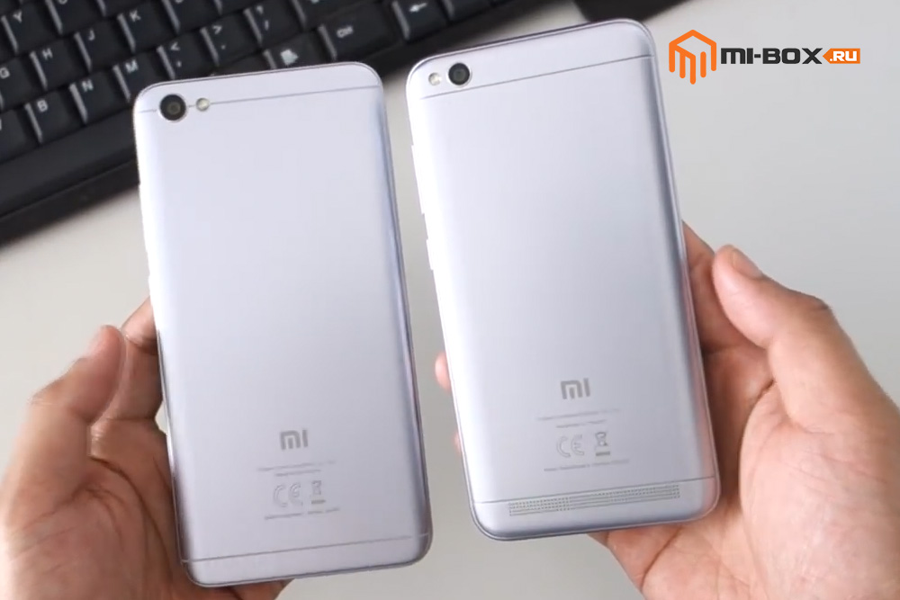 Что выбрать - Xiaomi Redmi 5a или Redmi Note 5a - задняя сторона