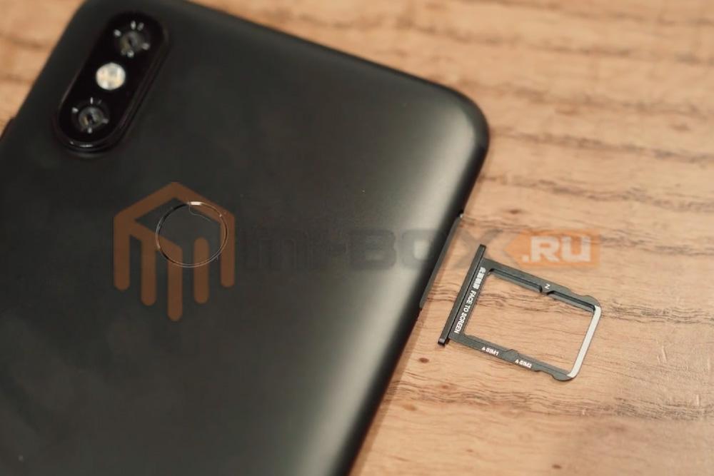 Обзор Xiaomi Mi 6x - левая грань