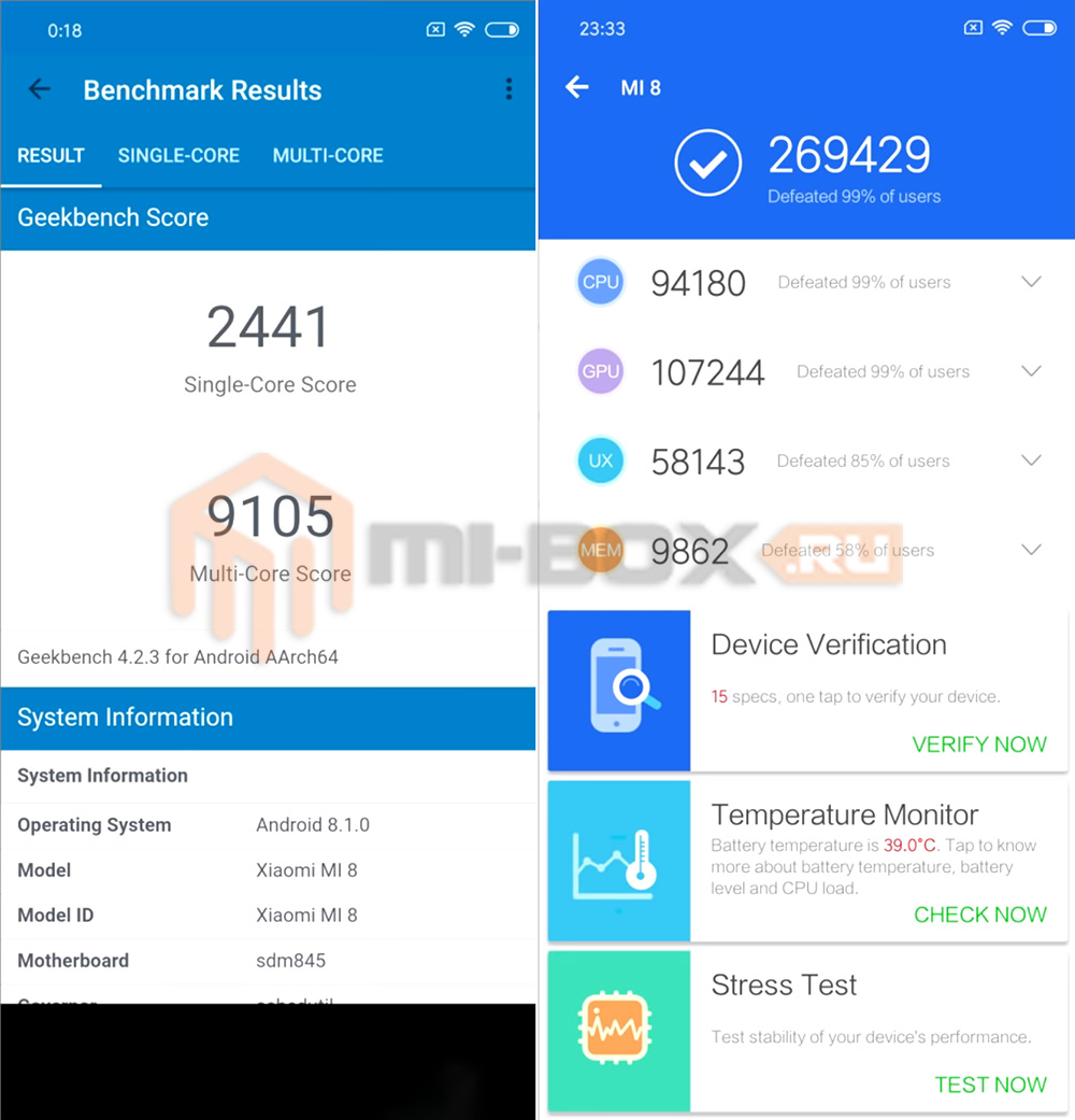 Обзор Xiaomi Mi 6x - тест AnTuTu