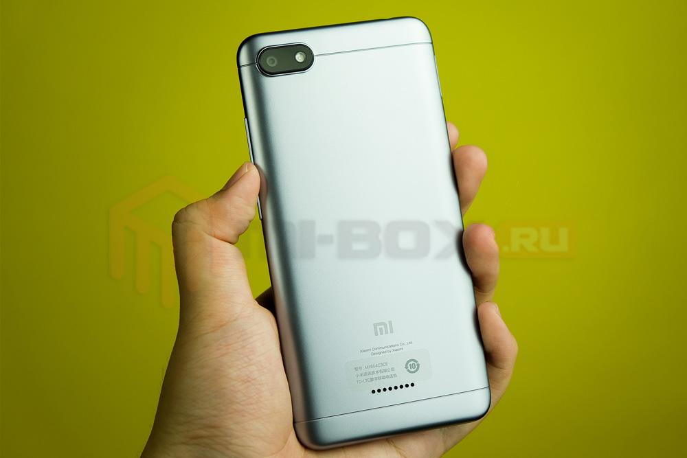 Обзор смартфона Xiaomi Redmi 6a - задняя сторона