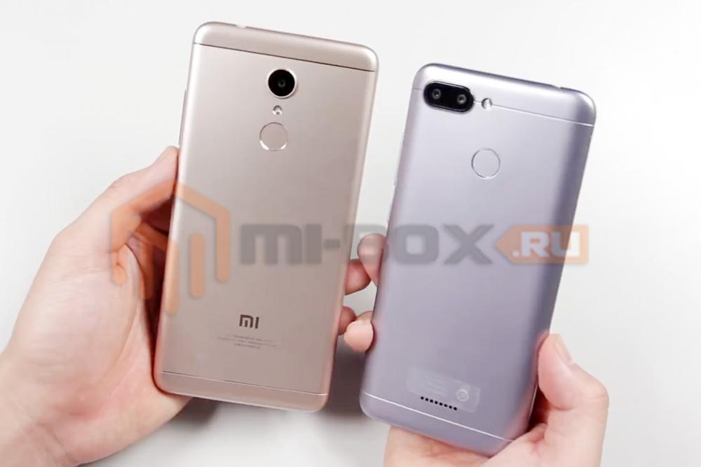 Сравнение Xiaomi Redmi 5 и Xiaomi Redmi 6 - задняя сторона