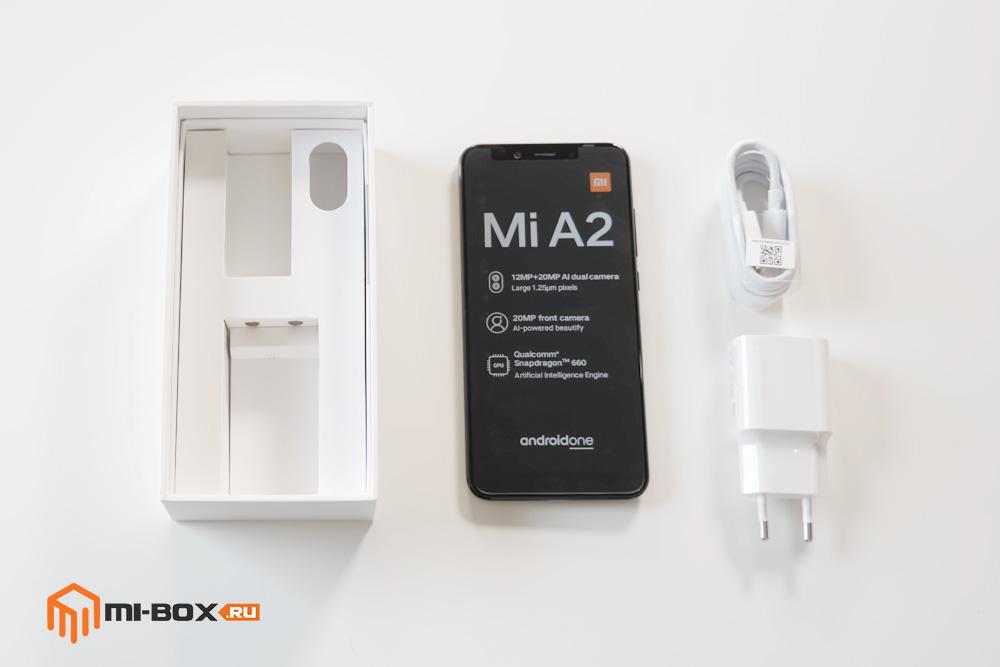 Обзор Xiaomi Mi A2 - комплектация