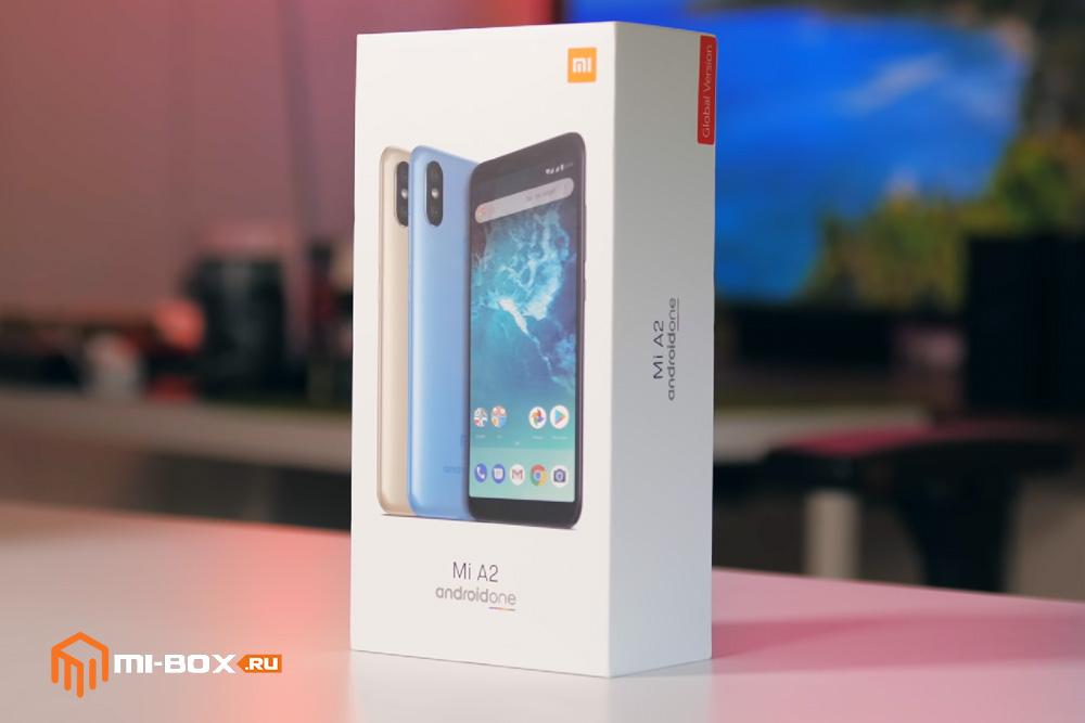 Обзор Xiaomi Mi A2 - упаковка