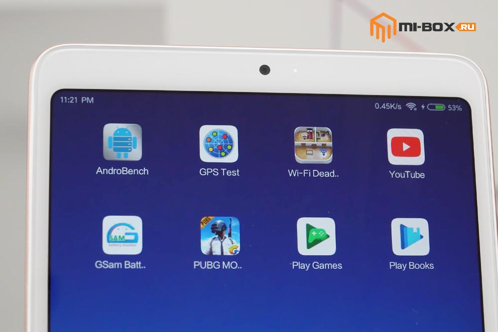 Обзор Xiaomi Mi Pad 4 - фронтальная камера и индикатор оповещений