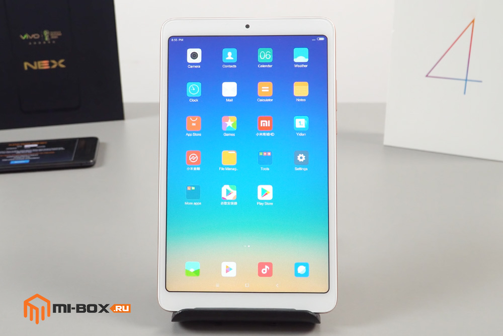 Обзор Xiaomi Mi Pad 4 - передняя сторона