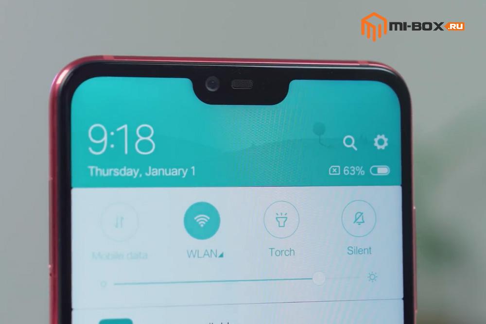 Обзор Xiaomi Mi 8 Lite - фронтальная камера