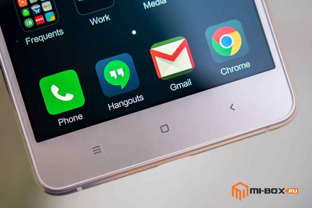 Обзор Xiaomi Mi 4S - кнопки управления