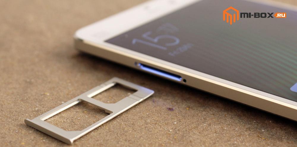 Обзор Xiaomi Mi Note - лоток для sim-карт
