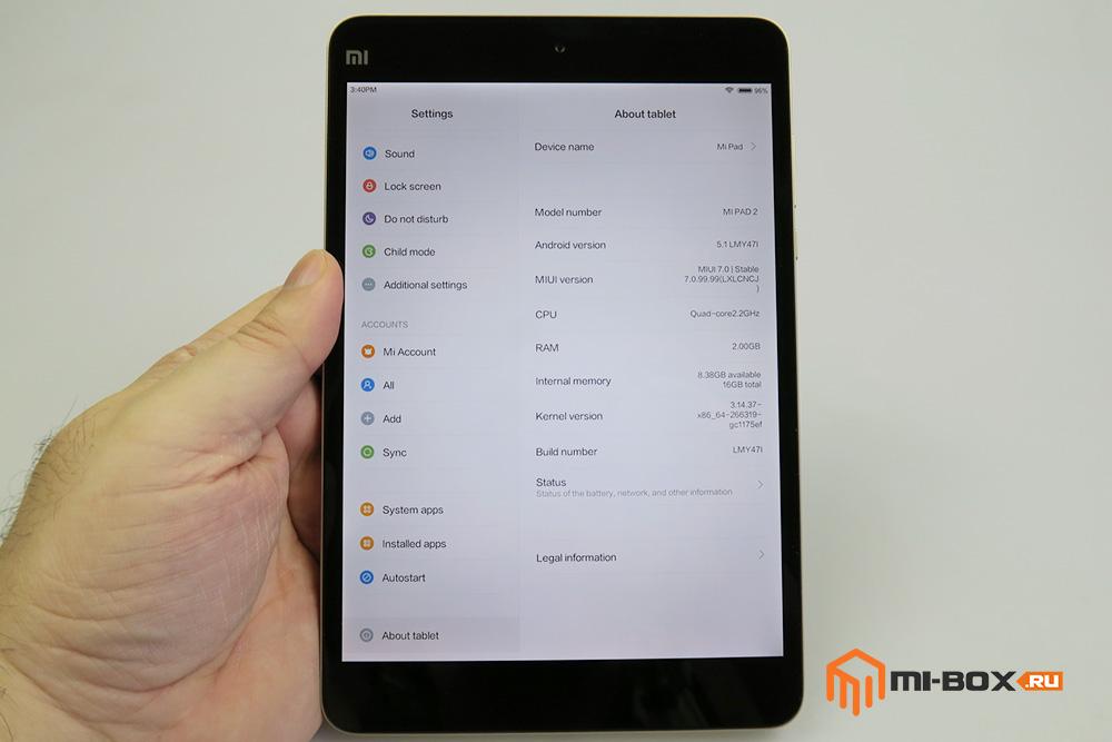 Обзор Xiaomi Mi Pad 2 - производительность