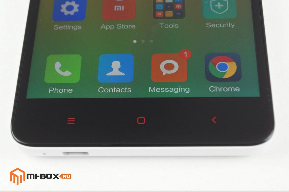 Обзор Xiaomi Redmi Note 2 - кнопки управления