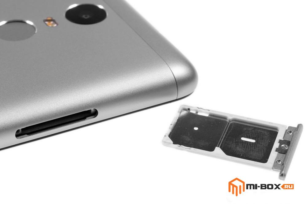 Обзор Xiaomi Redmi Note 3 - слот для сим-карт и карты памяти