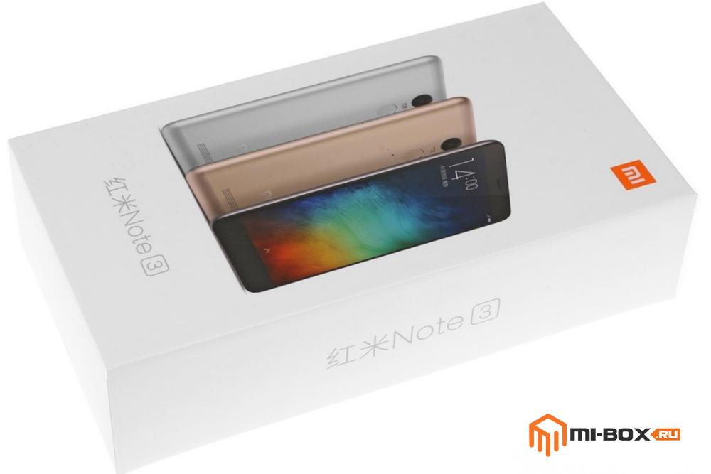 Обзор Xiaomi Redmi Note 3 - упаковка