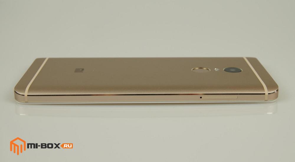 Обзор Xiaomi Redmi Note 4 - левая грань
