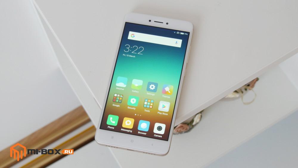 Обзор Xiaomi Redmi Note 4x - передняя сторона