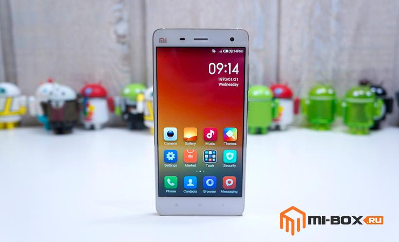 Обзор Xiaomi Mi 4 - передняя сторона