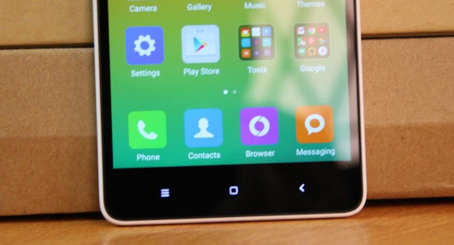 Обзор Xiaomi Mi 4i - кнопки управления