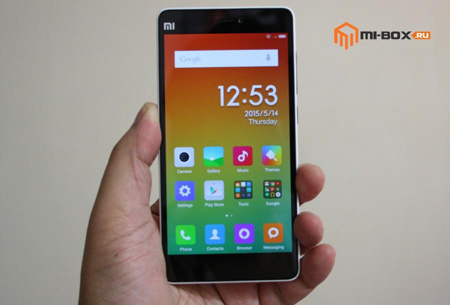 Обзор Xiaomi Mi 4i - передняя сторона
