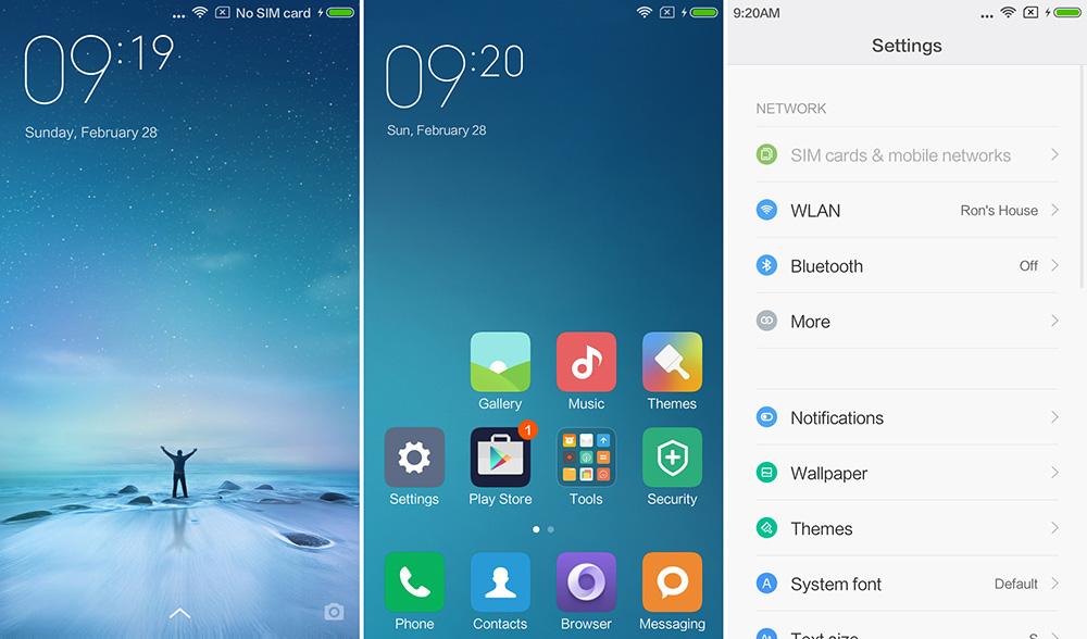 Обзор Xiaomi Redmi 3 - оболочка MIUI