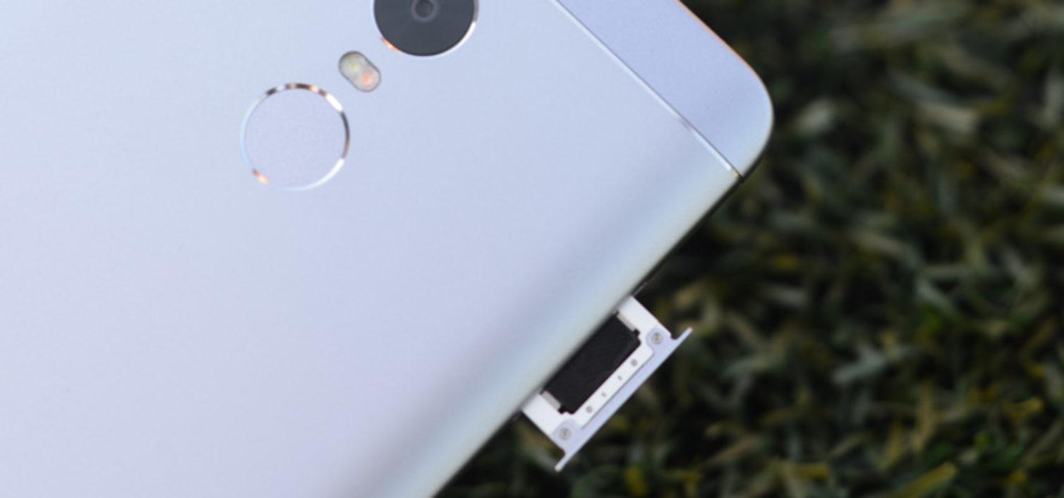 Как вставить сим в Xiaomi Redmi Note 4X