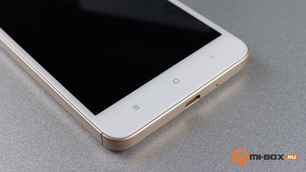Обзор Xiaomi Redmi 4a - кнопки управления