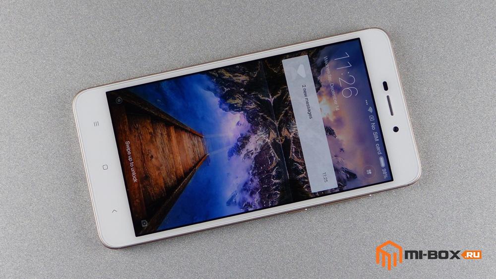 Обзор Xiaomi Redmi 4a - передняя сторона