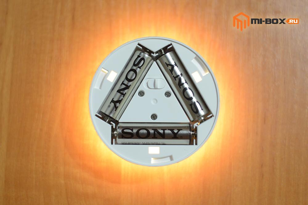 Светильник Xiaomi Night Light - три батарейки АА