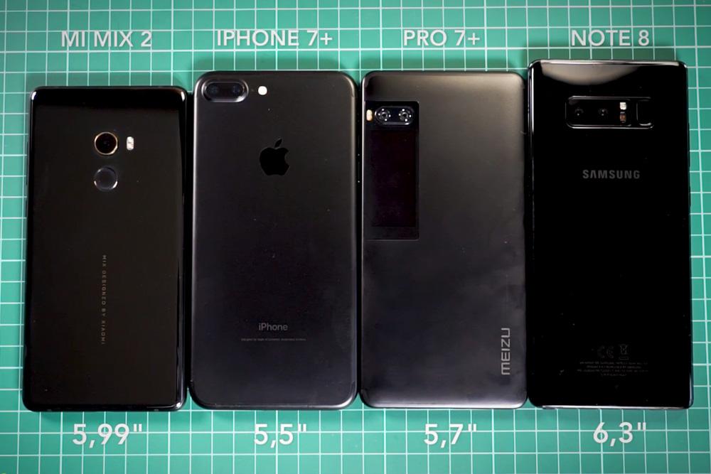 Обзор Xiaomi Mi Mix 2 - сравнение с другими смартфонами
