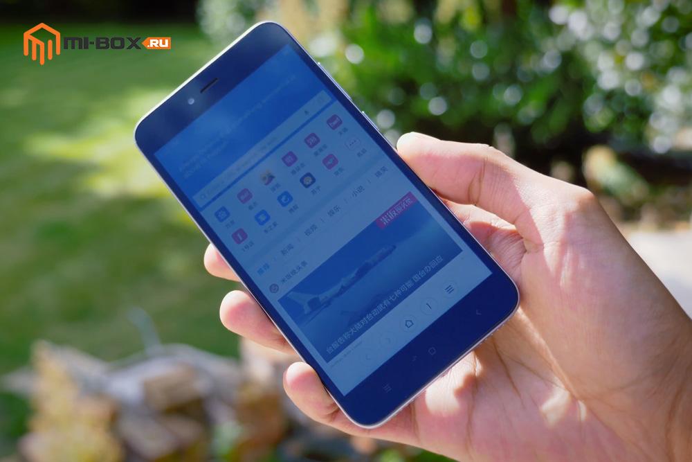 Обзор Xiaomi Redmi Note 5a - дисплей на солнце