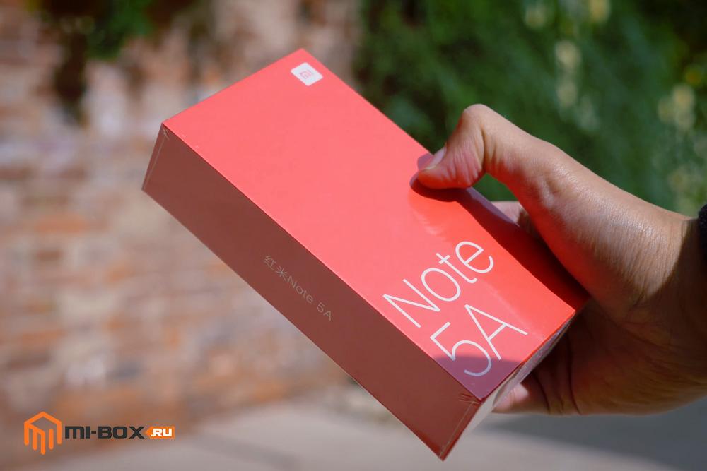 Обзор Xiaomi Redmi Note 5a - упаковка