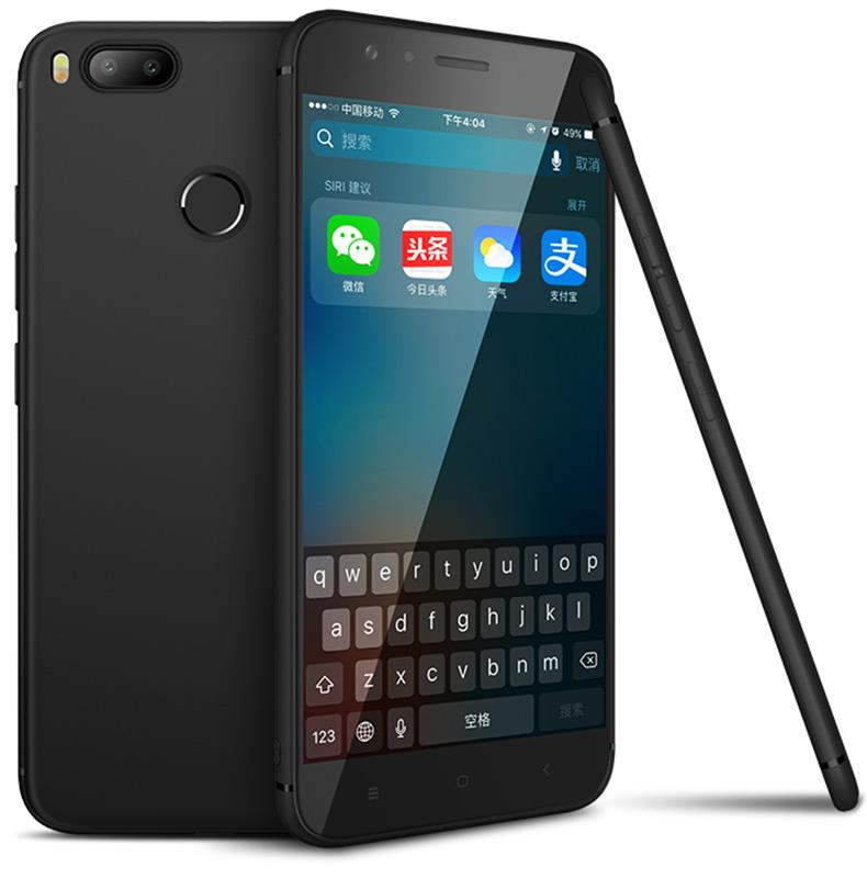 Силиконовый чехол для Xiaomi Mi A1 - черный